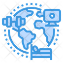 Globally Working Global Work At Home Icon