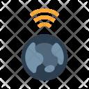 Globe Communication Digital Icon