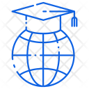 Globe Convocation Graduation Icon