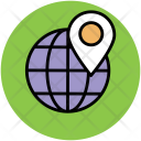 Globe Map Pin Icon