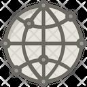 Globe Seo Development Icon