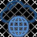 Cloud Storage Globe Icon