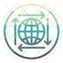Globe Arrow Icon