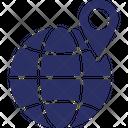Globe Globe Pin Navigation Pin With Globe Icon