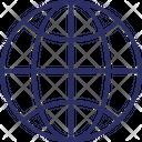 Globe Map Ground Plan Icon