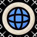 Social Internet Globe Icon