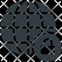 Globe Lock Sign Icon