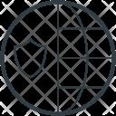 Globe Shield Sign Icon