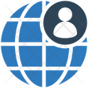 Globe User Connection Icon
