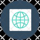 Globe Earth Grid Icon
