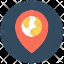 Globe Location Pin Icon