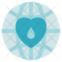 Blood Donation Medical Globe Icon