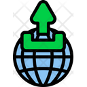 Globe Upload Global Icon