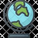 Globe School Map Icon
