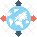 Worldwide Globe Arrows Icon