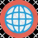 Globe Map Ground Icon