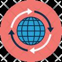 Globe Global Arrows Icon