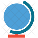 Earth Globe Round Icon
