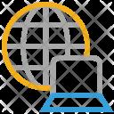 Globe Internet Laptop Icon