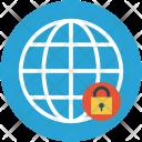 Globe and lock Icon