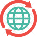 Globe Arrows Icon
