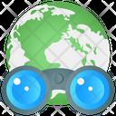 Globe Binocular Icon