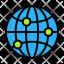 Globe Coordinates Icon