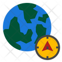 Globe Compass Direction Icon