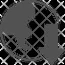 Globe Down Icon