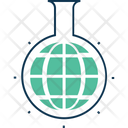 Globe In Flask Icon