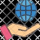 Control Globe Hand Icon