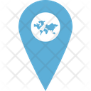Globe Location Location Pin Marked Location Icon