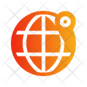 Globe Location Icon