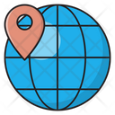 Map Location Global Icon