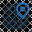 Globe Location Globe Location Icon