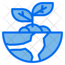 Ecology Globe Plant Icon