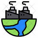 Factory Globe Plant Icon