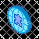Globe Puzzle Piece Icon