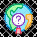 Globe Search Earth Planet Icon