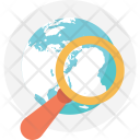 Globe Search Icon