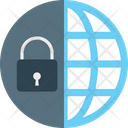 Globe Security Worldwide International Security Icon