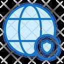 Globe Computer Security Icon