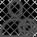 Globe User Earth Icon
