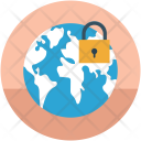 Globe With Lock Icon