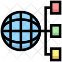Globle Network Universal Network Structure Icon