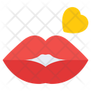 Glossy Lips Lips Mouth Icon