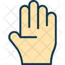 Pictogram Filled Hand Symbol Icon