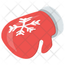 Mitten Christmas Gloves Red Gloves Icon