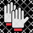 Mitten Hand Gloves Winter Wear Icon