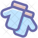 Cold Christmas Gloves Icon
